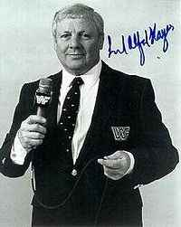Wrestler Lord Alfred Hayes (Alfred George James Hayes)